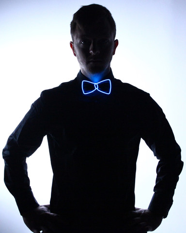 Light Up Bow Tie - Blue